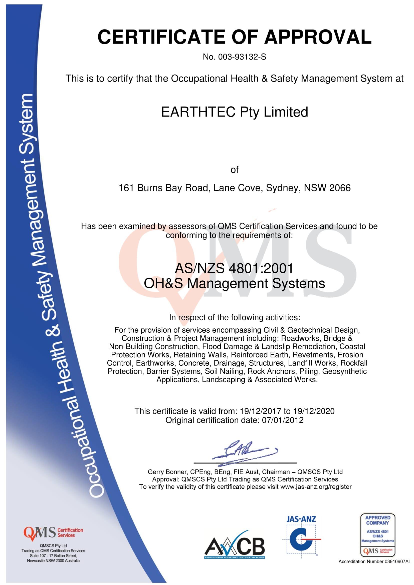 Accreditations - Earthtec